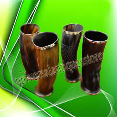 Game of Thrones Medieval Assorted Set of 4 Viking Drinking Horn Mug Cup For Beer