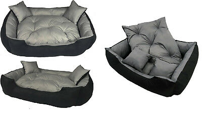 Dog Bed Large luxury Waterproof sofa removable pillow 2 pillows free 2in1 XS-XXL