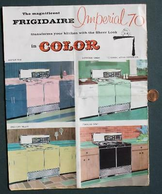1957 Frigidaire Sheer Look Imperial 70 Kitchen Appliance brochure-VINTAGE COOL!