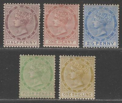 Tobago 1882-94 Queen Victoria Selection to 1sh Mostly Mint with 4d Unused