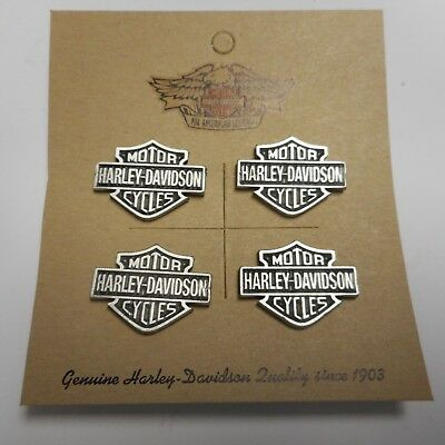 Wow Lot Of Four Harley Davidson Shield Pewter Pins  Beautiful Fantastic