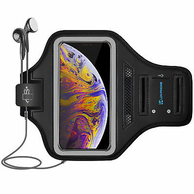 Running Armband for iPhone XS Max, Waterproof Sport Outdoor Gym Armband - Gray
