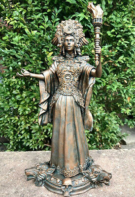 Hecate, Goddess of Witchcraft and Magic Statue,cast in resin and hand painted