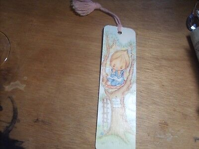 Vtg 1975 Betsey Clark Quilt Tree house Friendship Hallmark BOOKMARK 70's Tassel