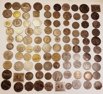 100 Coin Lot of City Notgeld/Emergency Tokens Germany Post WWI