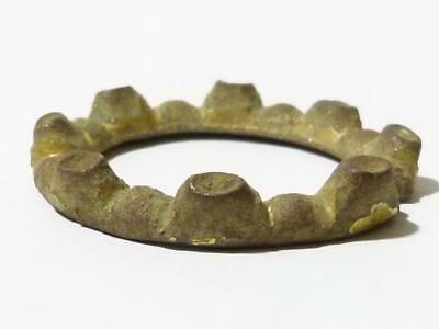 14thC Medieval Gilded Ring Brooch Paste Stones & Pin Missing METAL DETECTED #A1