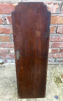Antique Oak Grandfather Longcase Clock Trunk Door Only
