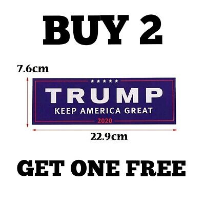 "Donald Trump President 2020 Bumper/Laptop Sticker/Decal ""Keep America Great"""