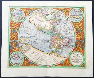 1633 Mercator Antique Map of America & The Great Southern Land - Terra Australis