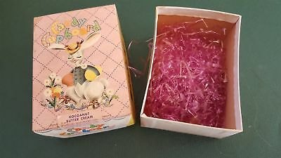 vintage Candy Cupboard Chocolate Egg Easter Box Grass original Lovell & Covel