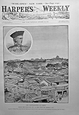 PEKING, CHINA DISTURBANCES Indepth! 1898 Harpers Weekly PILLAGER INDIAN TROUBLES