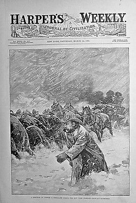 NEW YORK BLIZZARD OF 1888 Several Graphics with Descriptions! 1888 NEWSPAPER