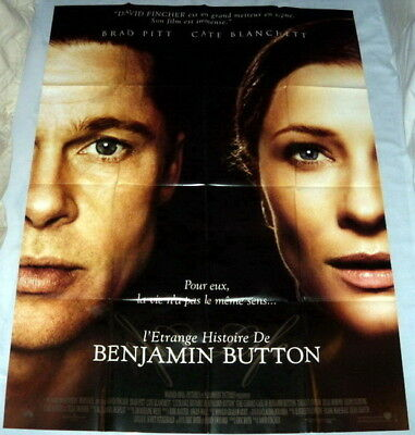 THE CURiOUS CASE OF BENJAMiN BUTTON Brad Pitt Cate Blanchett LARGE French POSTER