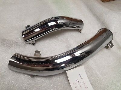 Stock Heat Shields Harley Ironhead Sportster XLCH XLH OEM 60's 70's Exhaust Pipe