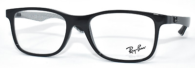 748b4a01af New Authentic Ray Ban Eyeglasses Rb8903 5681 Carbon Fiber Black silver 53 -18-