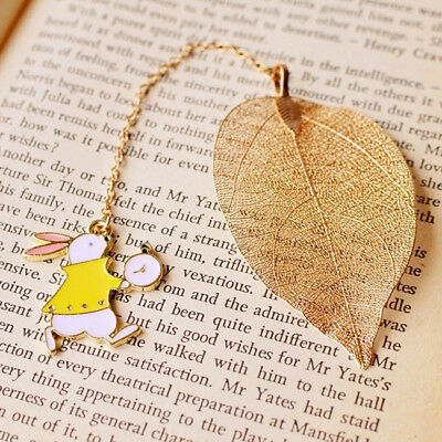 Rabbit Cartoon Pendant Bookmark Metal Book Mark Stationery Office Accessories DB