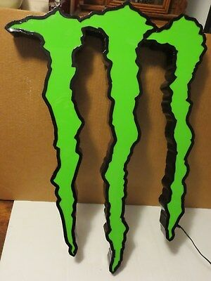 "Large 26"" Monster Energy Drink Logo Lighted LED Sign"