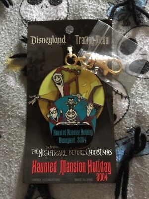 Disney 2004 Nightmare Before Christmas LE Glows Lanyard Haunted Mansion Holiday