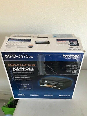 Brand New Brother MFC-J475DW Wireless All-In-1 Inkjet Printer Fax Same As J470DW