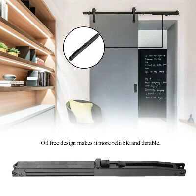 Black Soft Close Mechanism For Sliding Barn Door Hardware Spring Damper Buffer