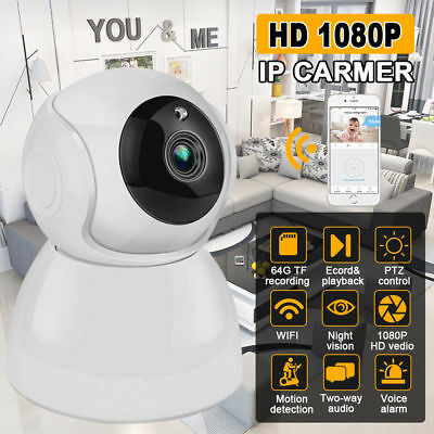 1080P WIFI IP Camera Wireless Home Security Alarm System Motion 2.0MP PIR Sensor