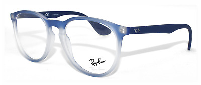 b05e67b0f30 New 100% Authentic Ray- Ban Eyeglasses Rb7046 5601 Blue Iridescent 53-18-