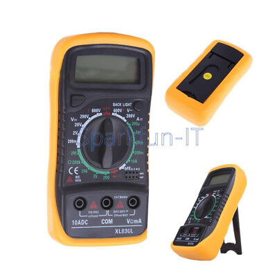 Digital LCD Multimeter Voltmeter Ammeter OHM AC DC VOLT Tester Checker XL830L F