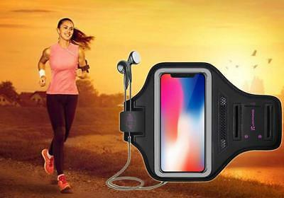 Running Armband for iPhone X & XS with Key Holder & Card Slot for Running - Gray