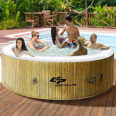 6 Person Inflatable Hot Tub Outdoor Jets Portable Heated Bubble Massage Spa