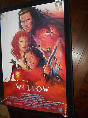Willow Val Kilmer Warwick Davis Fantasy Original Rolled One Sheet Poster Style A