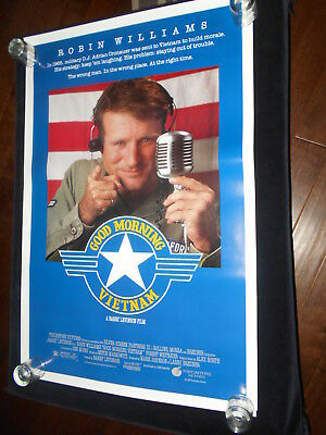 Good Morning Vietnam Robin Williams Original Rolled One Sheet Poster