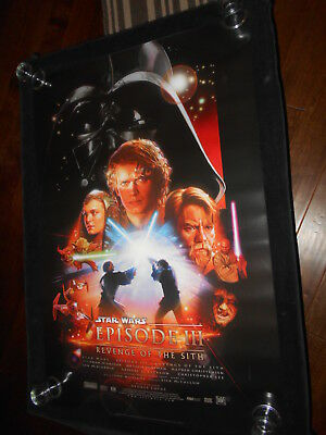 Star Wars Revenge Of The Sith  Original Double Sided Rolled One Sheet    Sci Fi