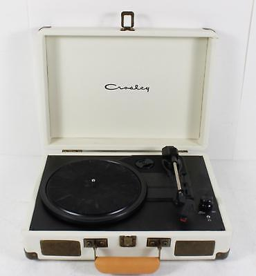 Crosley Portable Suitcase Turntable Record Player Bluetooth -In speakers White