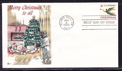 """USA 1965 Christmas """"Cachets"""" First Day Cover"""