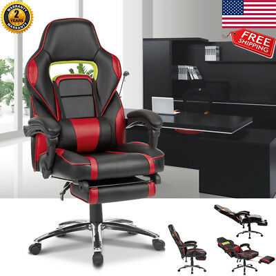 Highback Ergonomic Gaming Chair Racing Style Reclining Office Computer Desk Seat