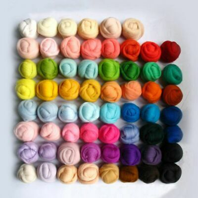 1 Set 36 Colors Fibre Wool Roving For Needle Felting Hand Spinning DIY Craft Kit