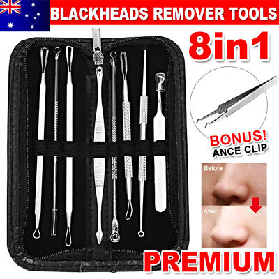 7Pcs Kit Blackhead Whitehead Extractor Remover Tools Set Pimple Comedone Acne