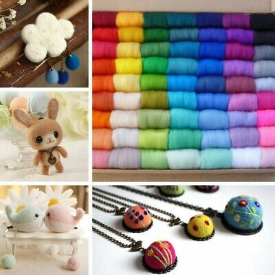 12pcs 12 Colors 5g Wool Fibre Roving For DIY Needle Felting Hand Spinning Set