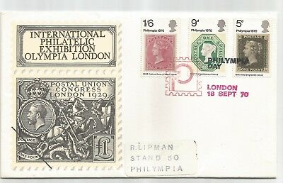 Gb 1970 Philympia First Day Cover Fdc