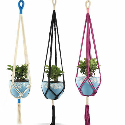 Pot Holder Macrame Plant Hanger Hanging Planter Basket Cotton Braided Rope Craft