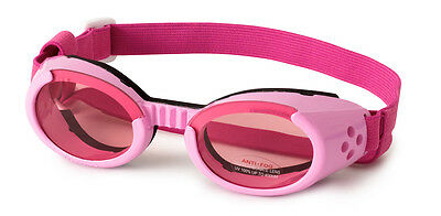 SUNGLASSES FOR DOGS by Doggles - PINK FRAME WITH PINK MIRROR LENS -  MEDIUM