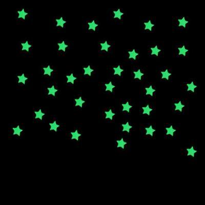 100PC/Lot Kids Bedroom Fluorescent Glow In The Dark Stars Wall Stickers Gift 3cm