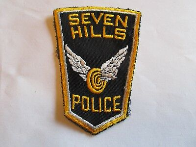 Ohio Seven Hills Police Patch Old Cheese Cloth