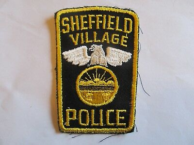 Ohio Sheffield Village Police Patch Old Cheese Cloth