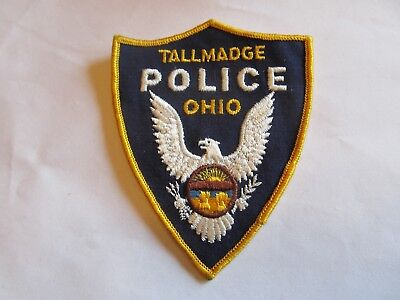 Ohio Tallmadge Police Patch Old Cheese Cloth