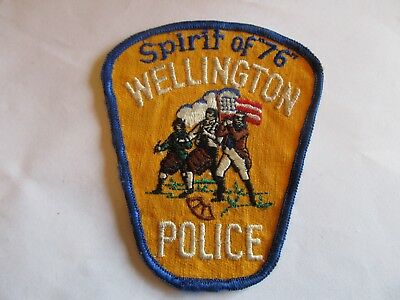 Ohio Wellington Police Patch Old Cheese Cloth