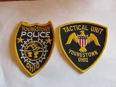 Ohio Youngstown Police Patch Old Cheese Cloth & SWAT