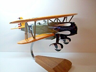 "Beautiful Hand Carved Curtis P-6E Hawk 13"" L X 17"" Ws Please Note No Prop"