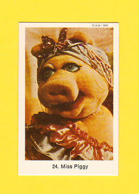 The Muppet Show Jim Henson Vintage 1978 Card from Sweden #24 Miss Piggy
