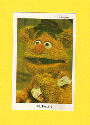 The Muppet Show Jim Henson Vintage 1978 Card from Sweden #46 Fozzie Bear